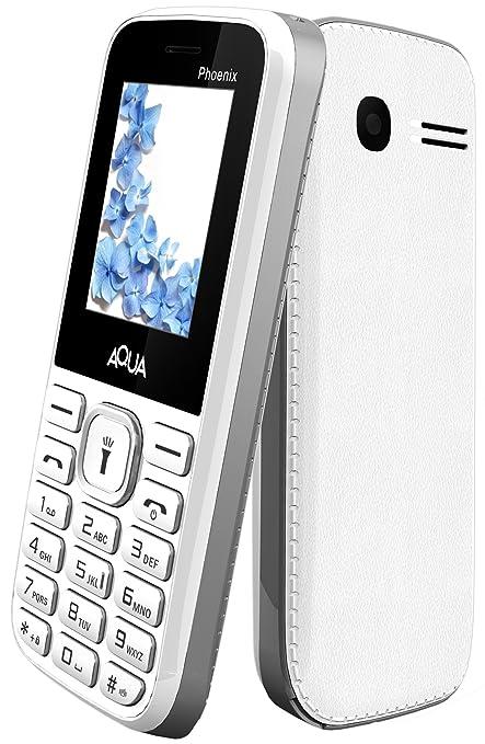 Aqua Phoenix Dual SIM Basic Mobile Phone - White+Grey
