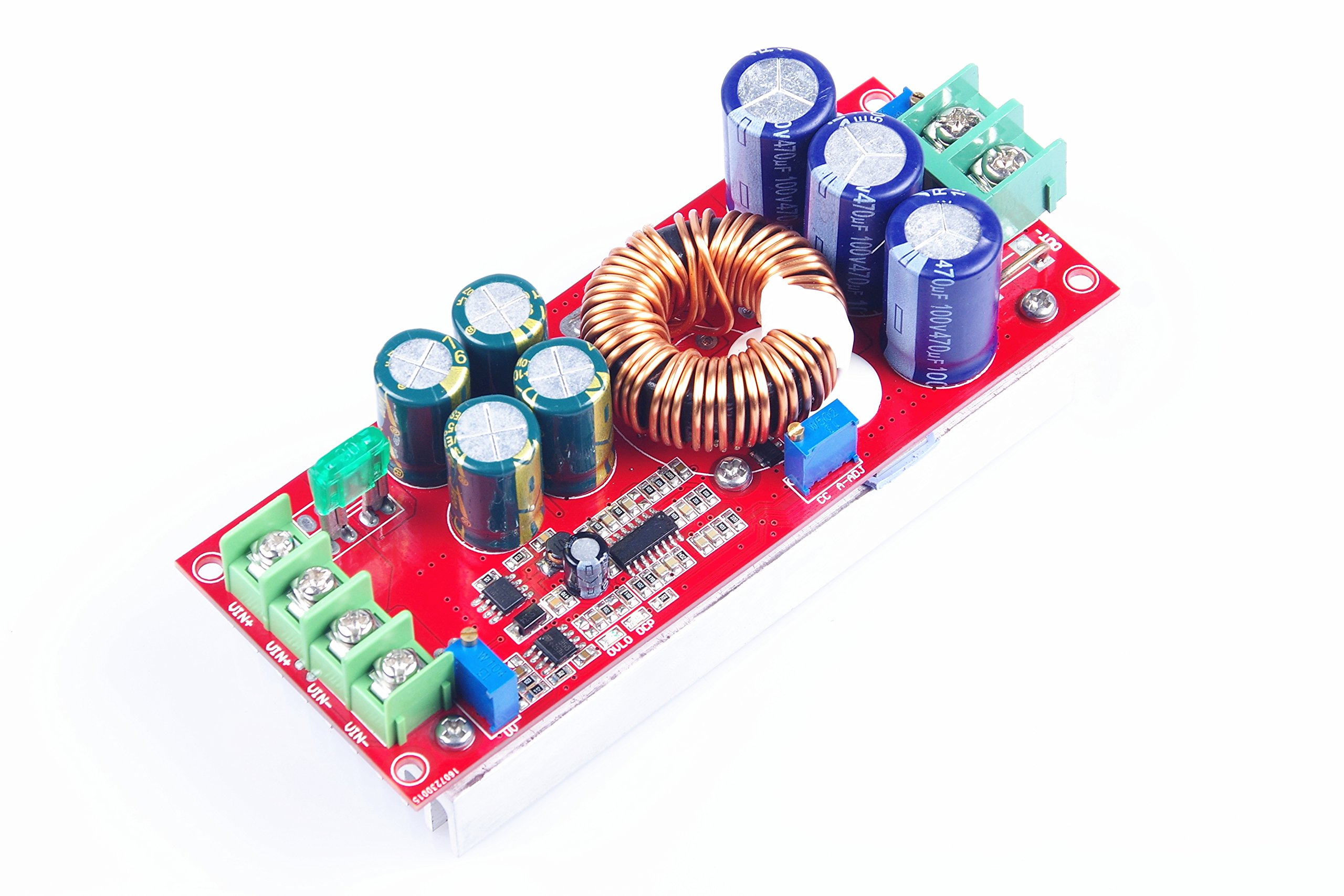 KNACRO 1200W 20A super power constant voltage constant current module/solar boost controller/battery charging module 12V/24V/36V/48V/60V/72V DC 10V-60V to 12V-80V Step Up Power Supply