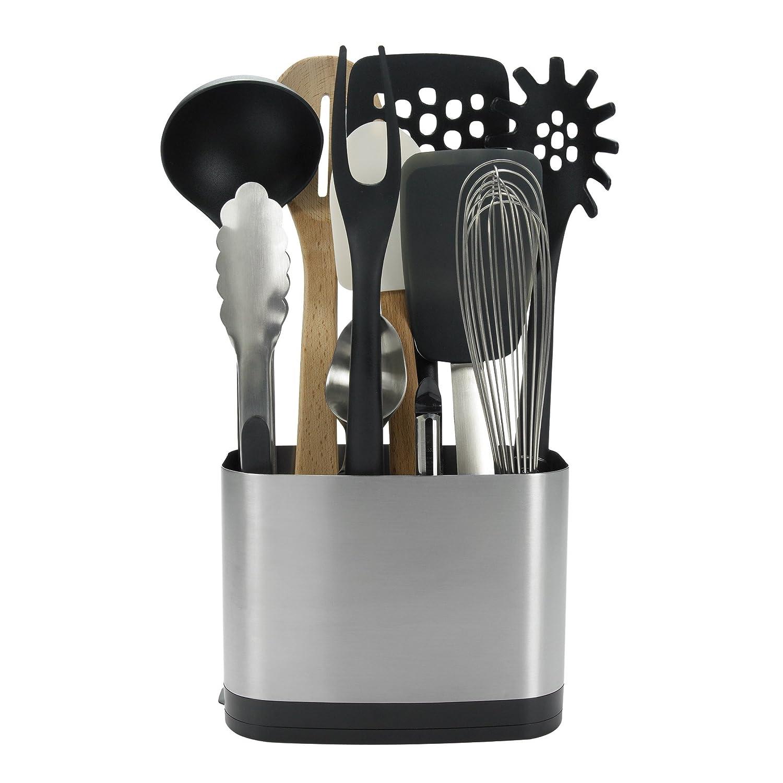 Kitchen Utensil Holder Amazoncom Oxo Good Grips Stainless Steel Rectangular Utensil