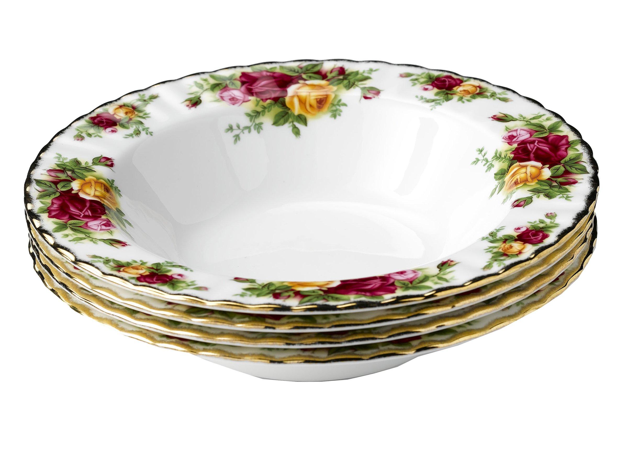 Royal Doulton-Royal Albert Old Country Roses Rim Soups, Set of 4
