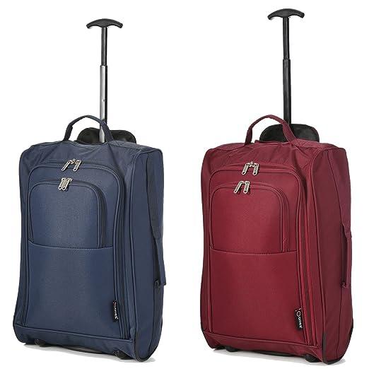 """202 opinioni per Set di 2 21 """"/ 55cm 5 Cities cabina Approvato mano bagaglio leggero sacchetti"""