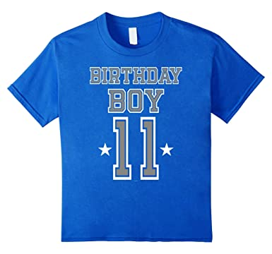 Kids 11th Birthday Gifts For Boys Age 11 Cool Tshirt Presents 4 Royal Blue