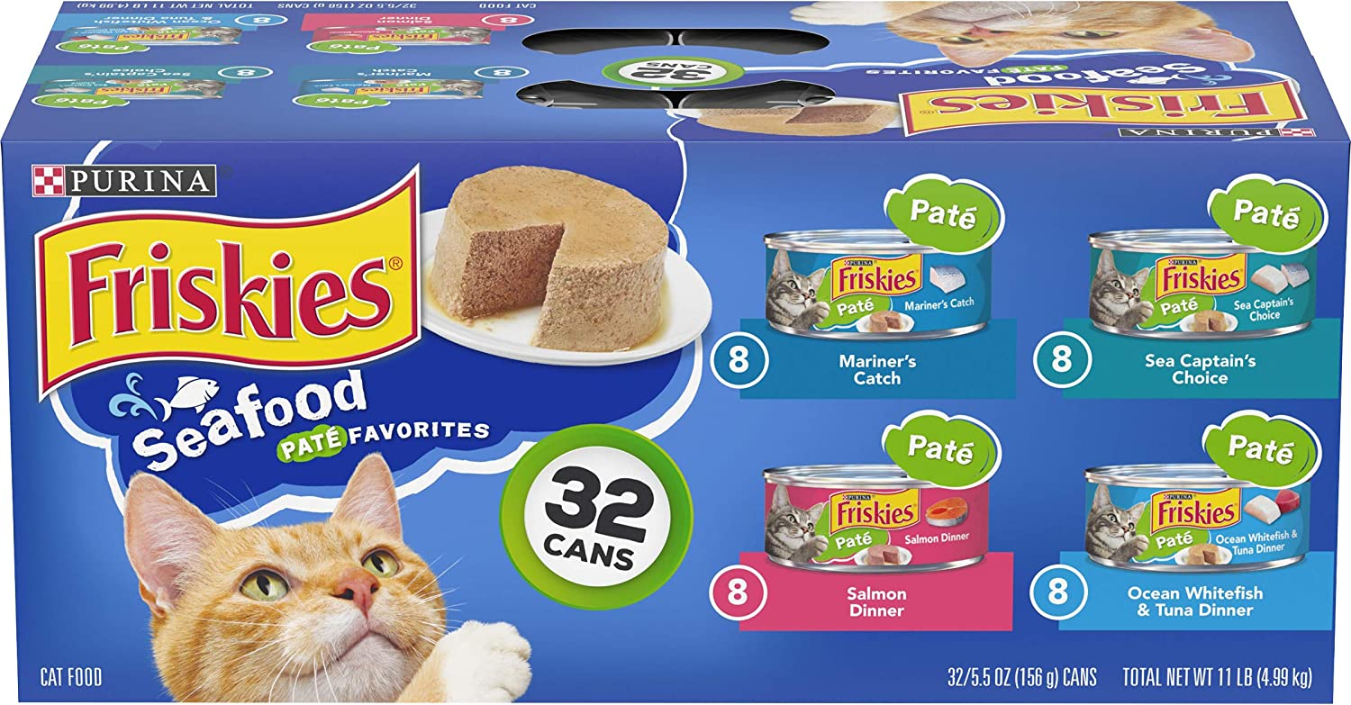 Purina Friskies Seafood Adult Wet Cat Food Variety Pack - (32) 5.5 oz. Cans