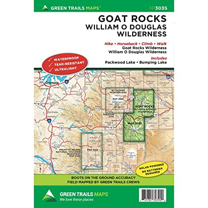Amazon.com: Green Trails Maps, Goat Rocks/William O Douglas ...