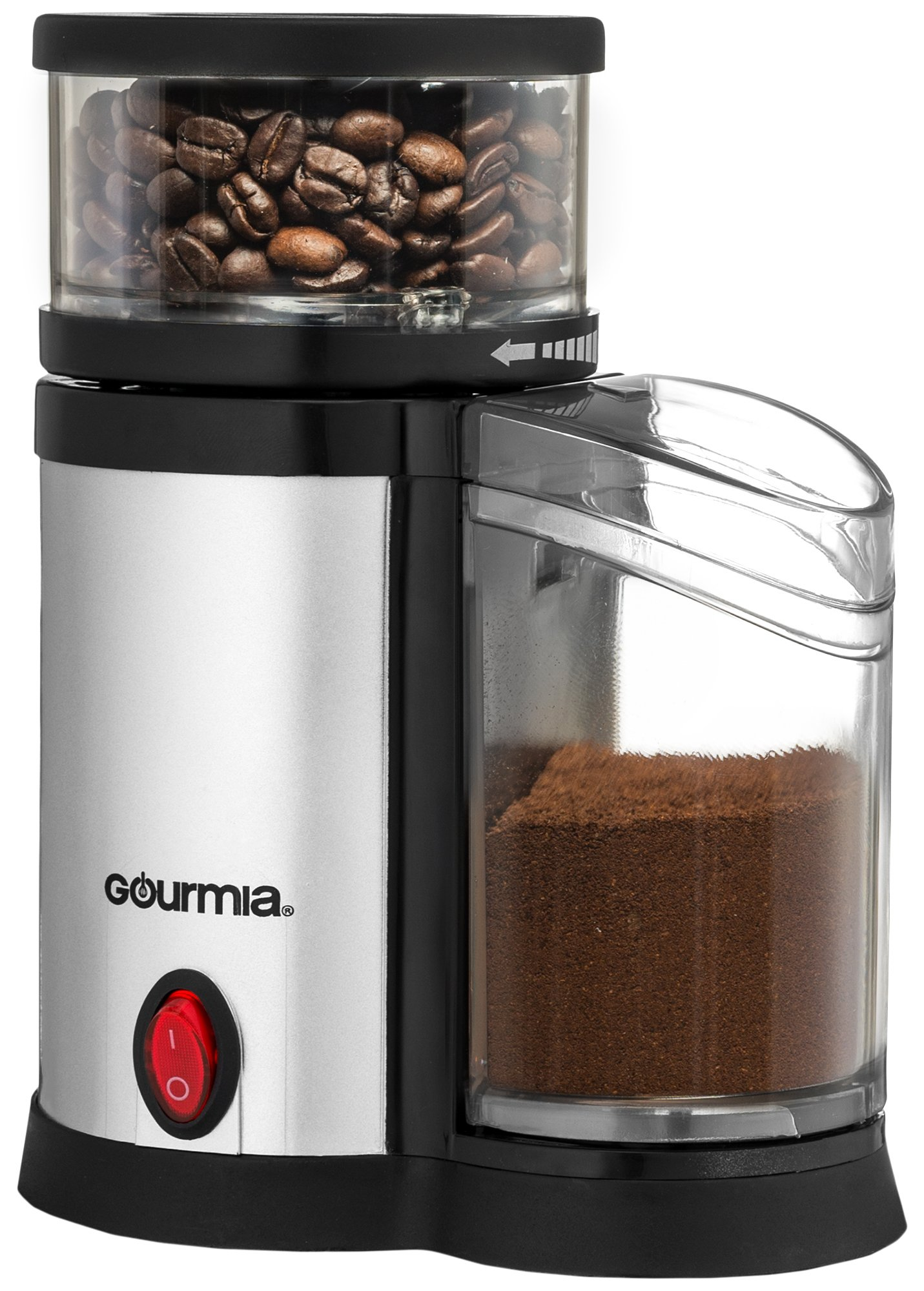 Gourmia GCG165 Compact Electric Burr Coffee Grinder - Adjustable Coarse Grind Size – Sleek and Compact – Easy to Use – Great Gift Idea – ETL Approved by Gourmia