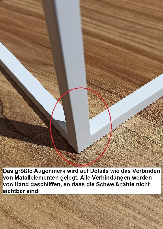 Allhouse24 - Juego de 3 mesas auxiliares con tablero de cristal, color blanco: Amazon.es: Hogar