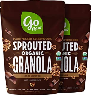 product image for Go Raw Gluten Free Granola, Coco Crunch | Organic | Sprouted | Superfood (2 Bags)