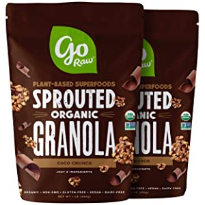 Go Raw Gluten Free Granola, Coco Crunch | Organic | Sprouted | Superfood (2 Bags)
