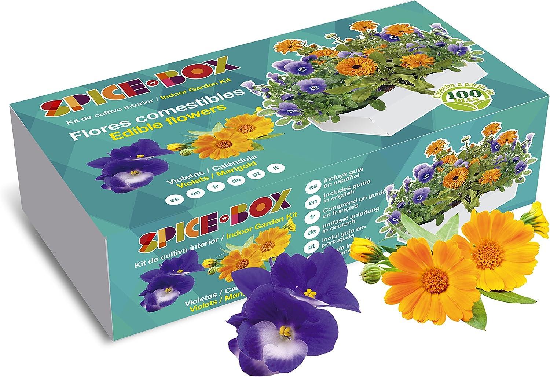 SeedBox PGSPFC Spicebox Flores comestibles, 9x5x23 cm: Amazon.es ...