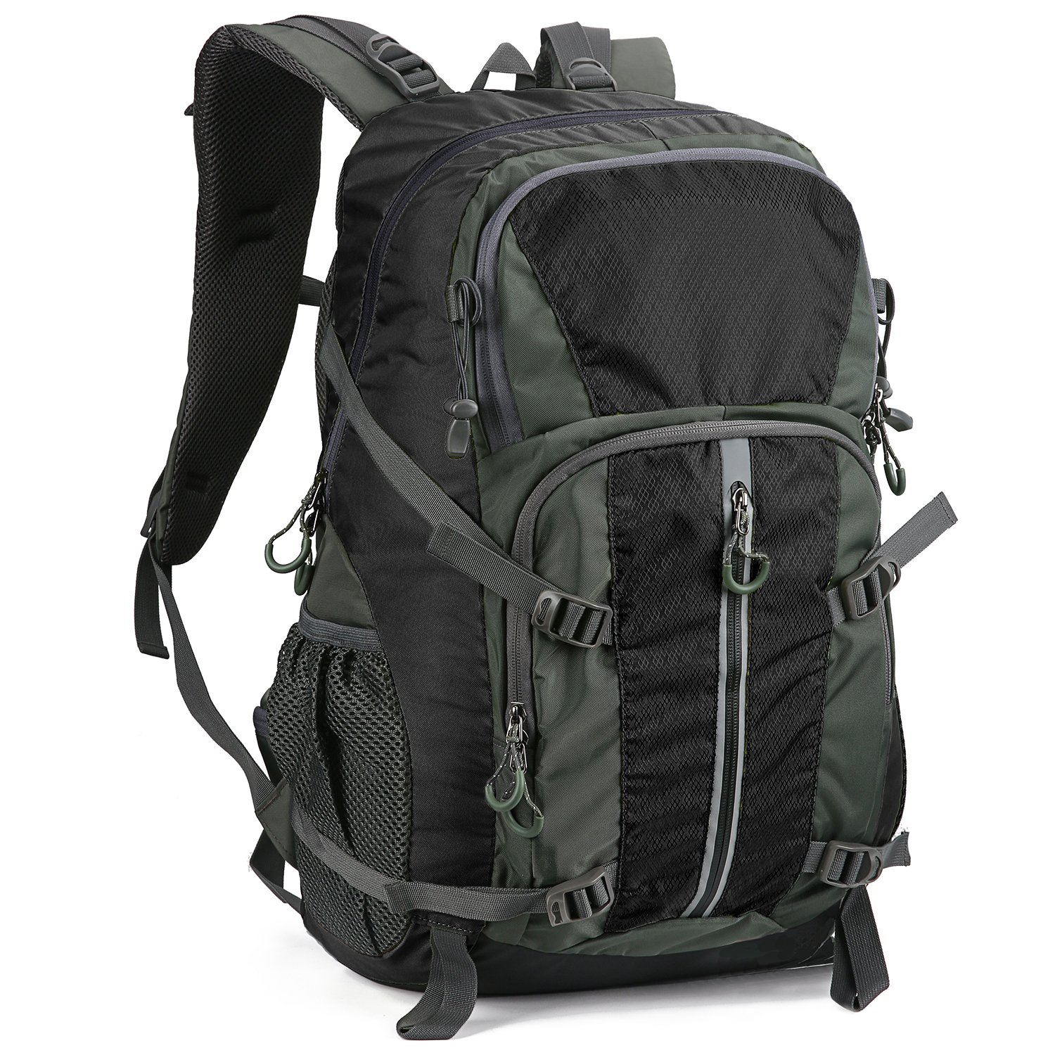 Hiking Backpack, Durable Travel Backpack Daypack Waterproof 40L for Hiking, Camping, Cycling, Biking, Climbing, Hunting, and Outdoor Activities Black