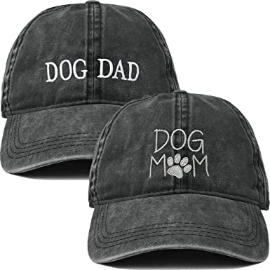 1f186db4 H-214-2-DMD06-W Dog Mom and Dog Dad Hat Bundle - Washed at Amazon ...
