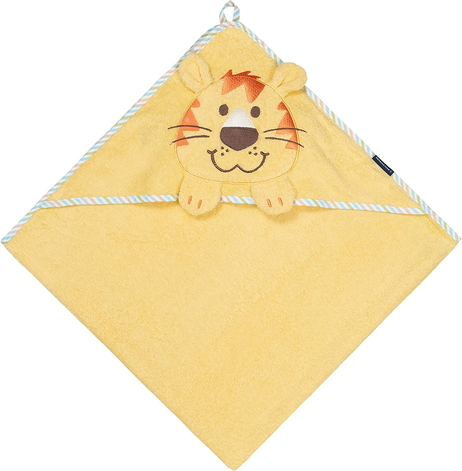 100 x 100 cm Beige Morgenstern Children Hooded Towel with Donkey Embroidery 39 x 39