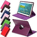 Universal Rotation Tasche für Tablet Modelle in 7, 8 oder 10 Zoll Größe Case Schutz Hülle Cover (8 Zoll, Violett)