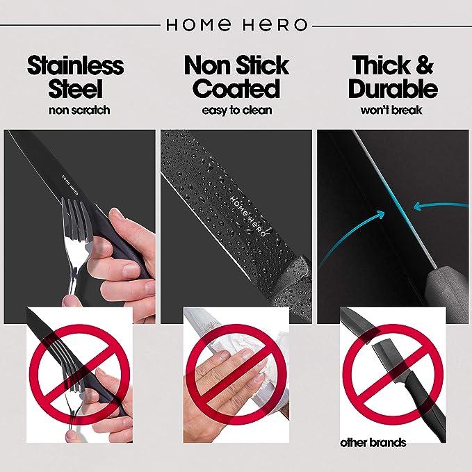 Amazon.com: HomeHero - Cuchillo de cocina de 5.0 in ...