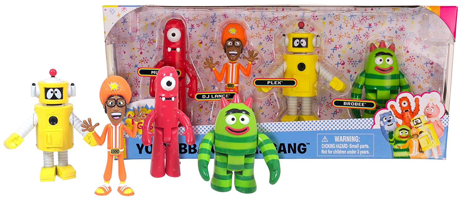 Buy Yo Gabba Gabba Gang 4 Piece Collectors Set 2014 Muno Dj Dance