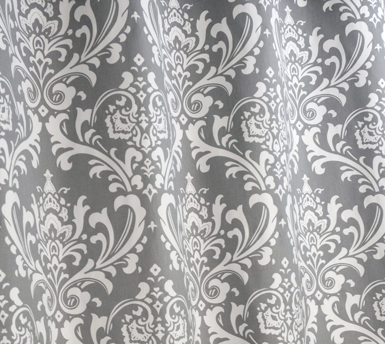 curtain damask drapes flock black curtains cream