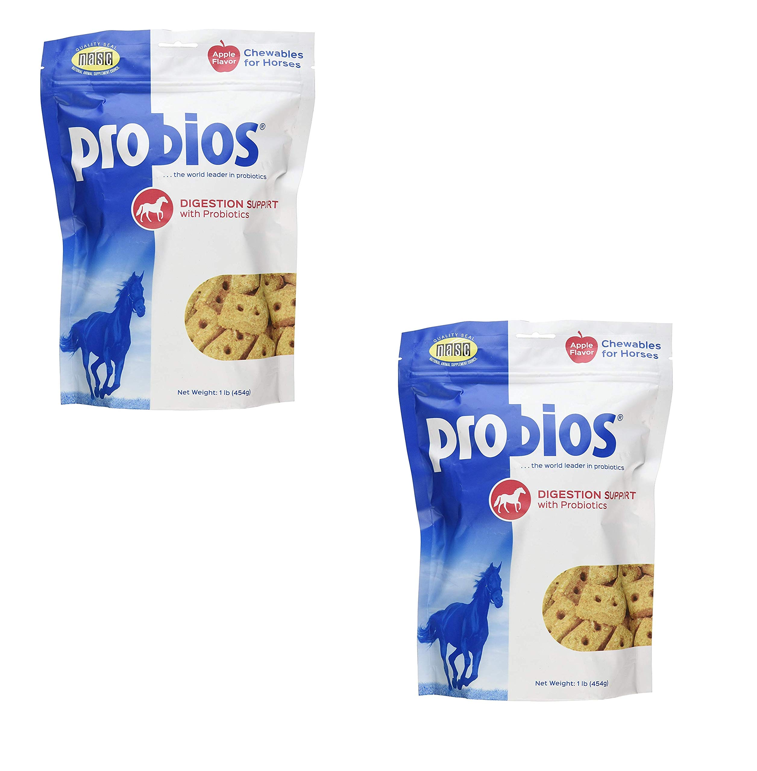 Probios Horse Treats for Digestion Support, 1-Pound (2 Pack) by Probios