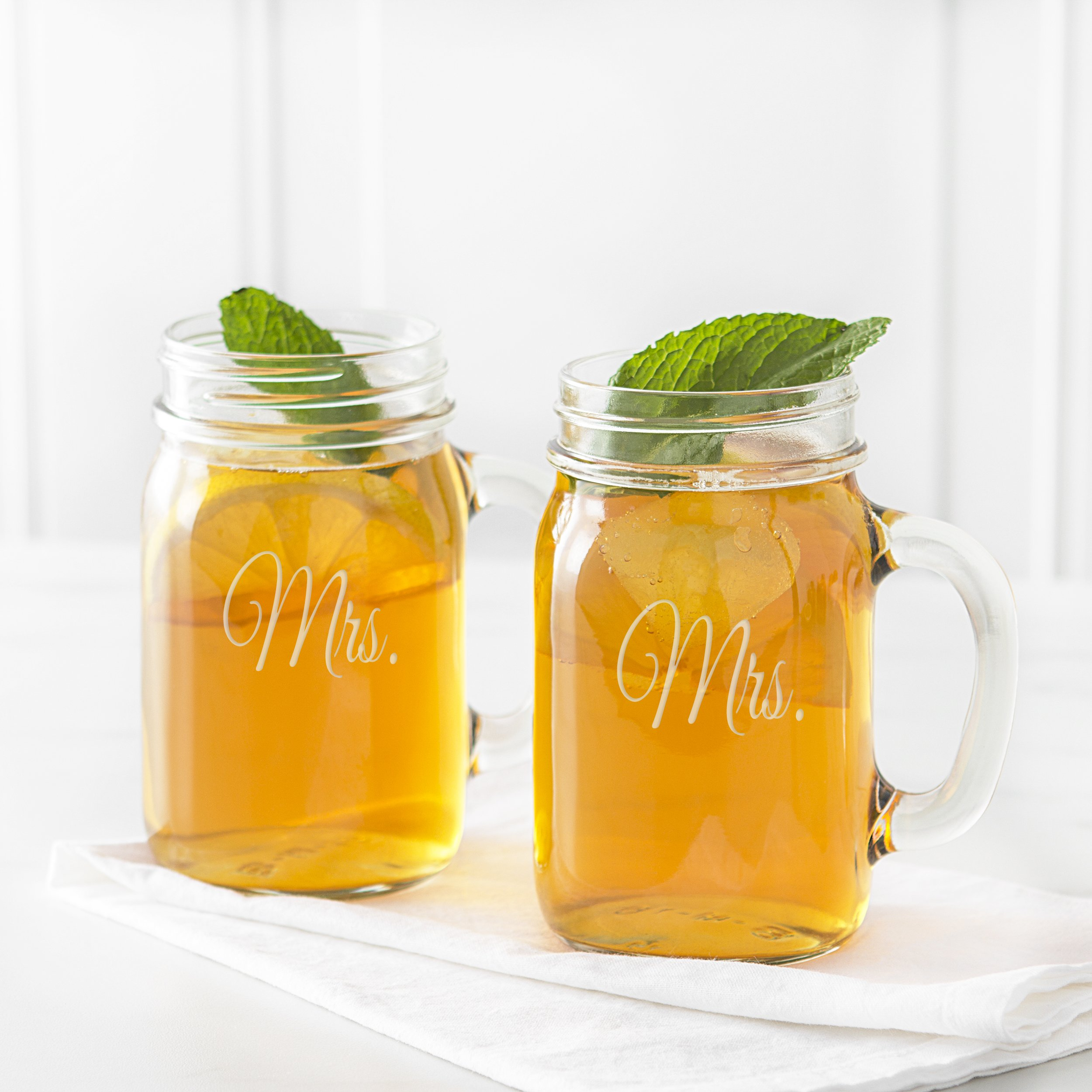 Cathy's Concepts Mrs. & Mrs. Old Fashioned Drinking Jar Set by Cathy's Concepts (Image #2)