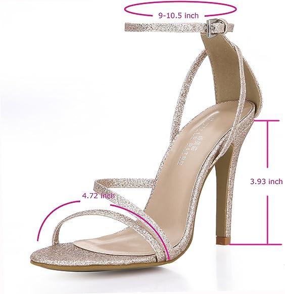 7b3e7f2b6 Amazon.com   DolohinGirl Women Fashion Black High Heel Sandals ...