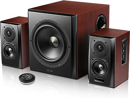 Edifier S350db Lautsprecher System Home Entertainment Regallautsprecher Und Subwoofer 2 1 Mit Bluetooth V4 0 Aptx In Holz Schwarz Audio Hifi