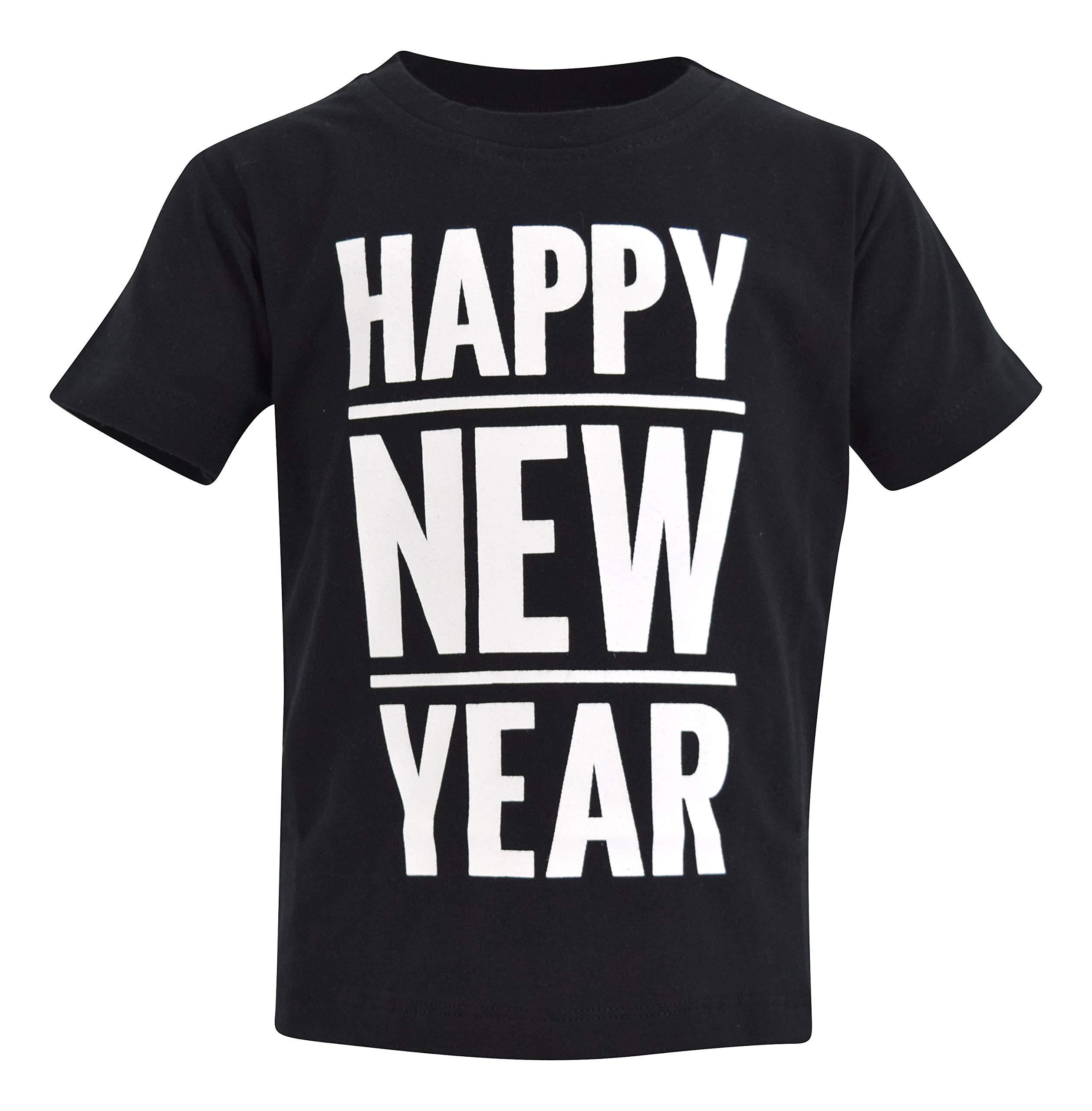 537bebcd Unique Baby Boys Happy New Year 2019 Party Shirt (3t, Black)