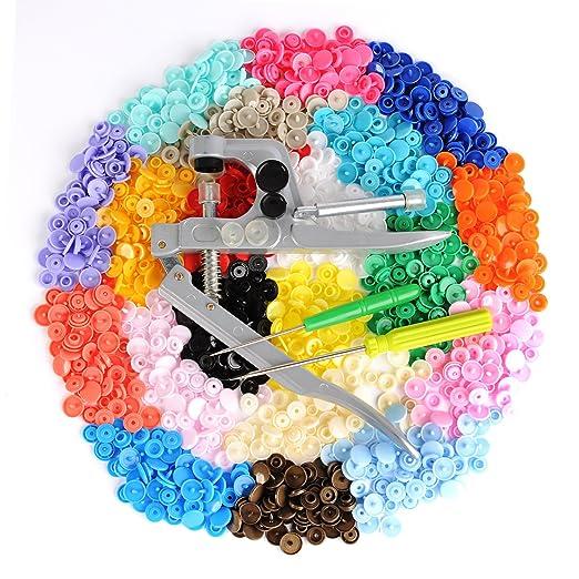 150 opinioni per Bottoni a Pressione- LIHAO 300pz 20 Colori Bottoni Automatici in Plastica e