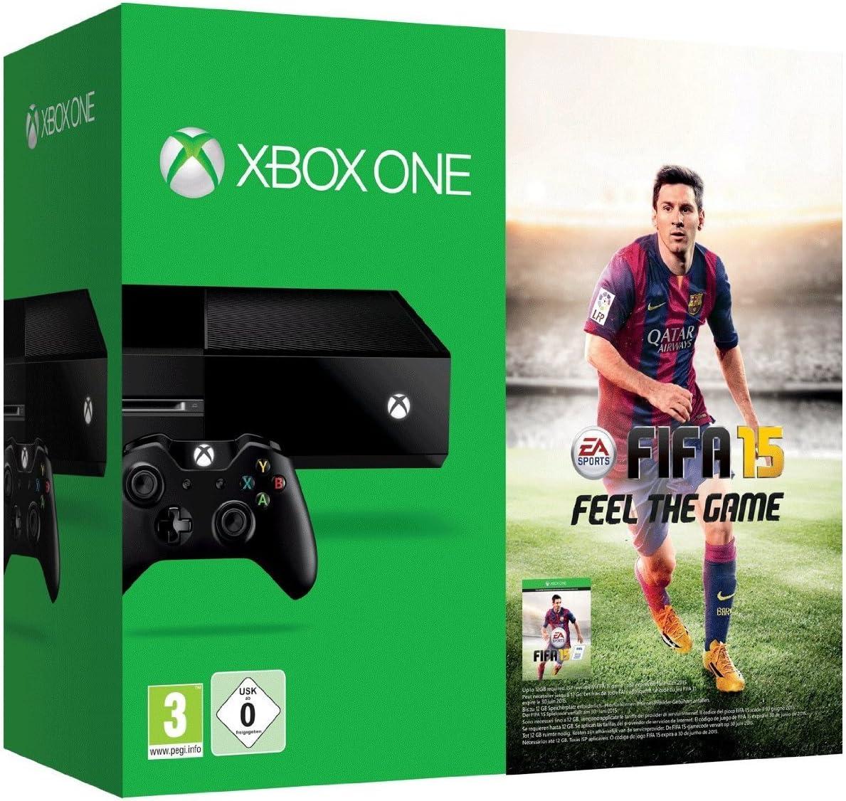 Microsoft Xbox One + FIFA 15 - juegos de PC (Xbox One, 500 MB, DDR3, Blu-Ray, 500 GB, 230V) Negro: Amazon.es: Videojuegos