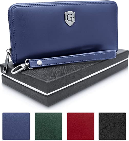 Damen Geldbörse Portemonnaie Geldbeutel Brieftasche Großes Lange Börse 7 Farben