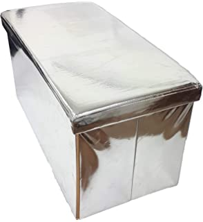 New Mirrored Side Table Storage Cube Timeless Stylish Design