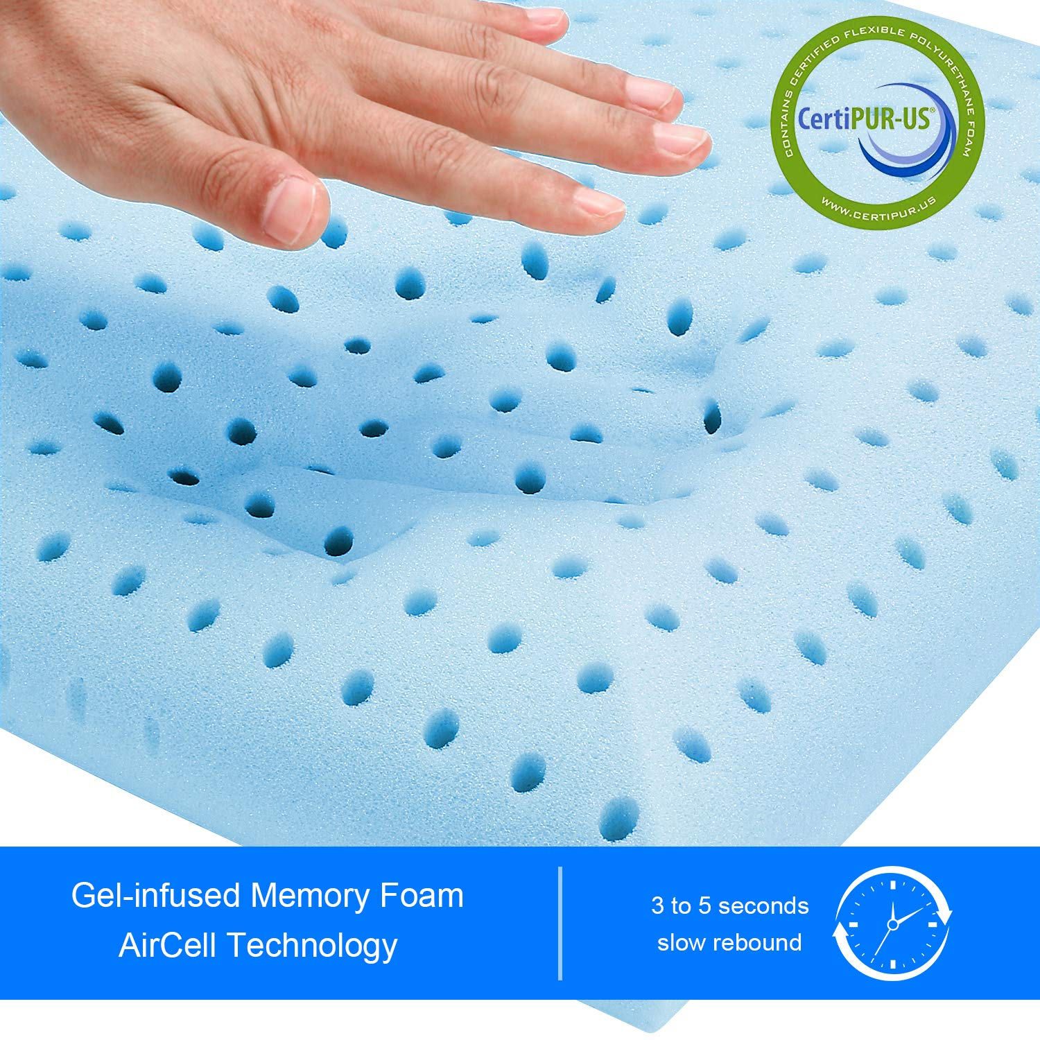 Milemont Memory Foam Pillow, Bed Pillow for Sleeping, Pillow for Neck Pain, Neck Support for Back, Stomach, Side Sleepers, CertiPUR-US, Standard Size by Milemont (Image #1)