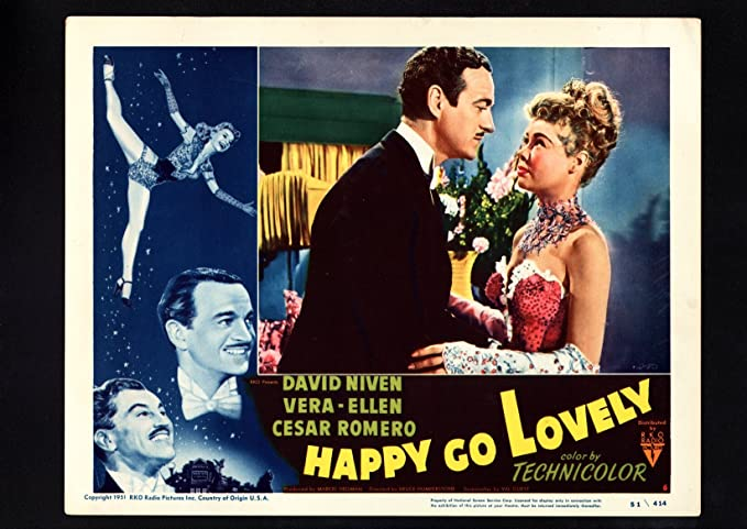Original Print Ad 1951 Movie Happy Go Lovely David Niven Technicolor Romero Advertising Merchandise & Memorabilia