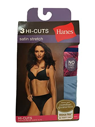 6e02115ed68d Hanes Women's Body Creations Stretch Satin Hi-Cut Panties 3 Pack (Size 9/