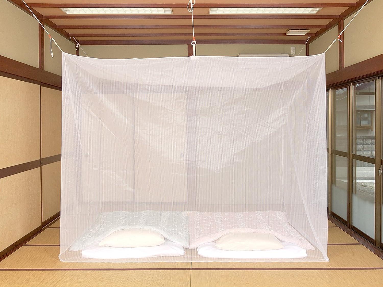洗える ポリエステル蚊帳(カラー:白/サイズ:8畳)【国内生産No.1メーカー】 B00W9729X8