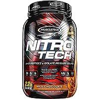 Whey Protein Powder + Creatine Monohydrate | MuscleTech Nitro-Tech Whey Isolate + Peptides | Whey Protein Powder for Men…