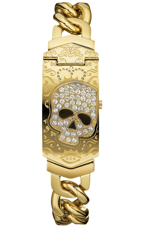 Amazon.com: Marc Ecko Mens E16562G1 Better Off Dead Skull ID Bracelet Watch: Marc Ecko: Watches