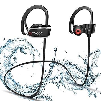 Auriculares Bluetooth Inalámbricos -TOSCiDO X18 Estéreo Deportes Auriculares Bluetooth 4.1,IPX7 A Prueba De