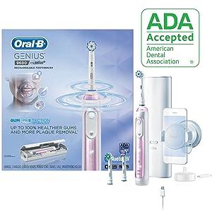 Oral-B 9600 Electric Toothbrush, 3 Brush Heads, Powered By Braun, Sakura Pink