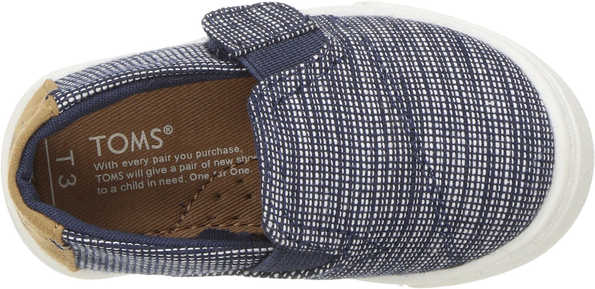 TOMS Kids Unisex Luca (Infant/Toddler/Little Kid) Navy Striped Chambray 10 M US Toddler by TOMS Kids (Image #2)