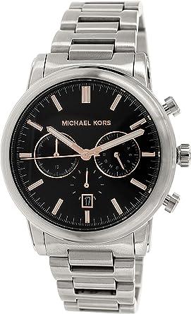 amazon com michael kors pennant chronograph grey dial gunmetal michael kors pennant chronograph grey dial gunmetal ion plated mens watch mk8369