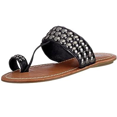 new product 65201 ec706 Buffalo 308-8034 calf leather, Damen Sandalen/Zehentrenner