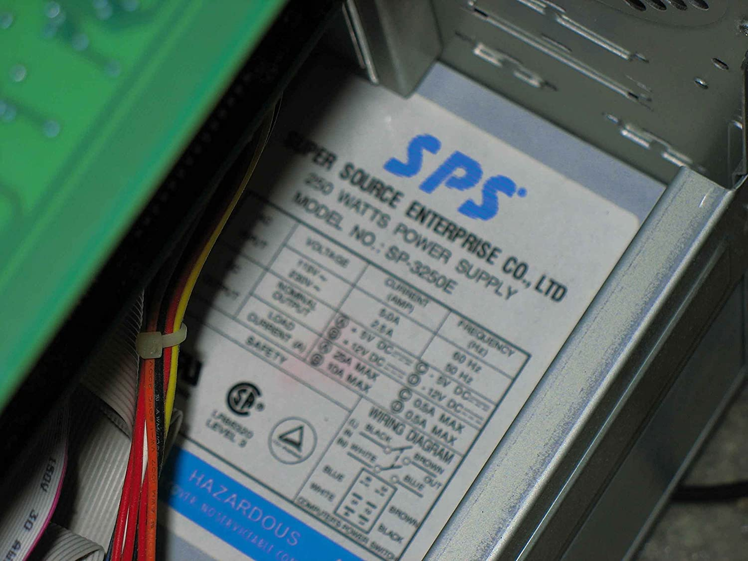 Super Sp 3250e 250 Watt At Power Supply Source Ayp Wiring Diagram Enterprise New Compatable Only Computers Accessories