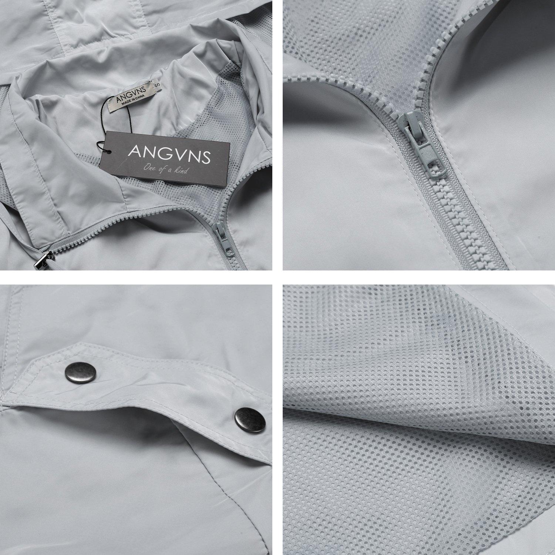 ANGVNS Women's Waterproof Lightweight Rain Jacket Anorak with Detachable Hood by ANGVNS (Image #4)