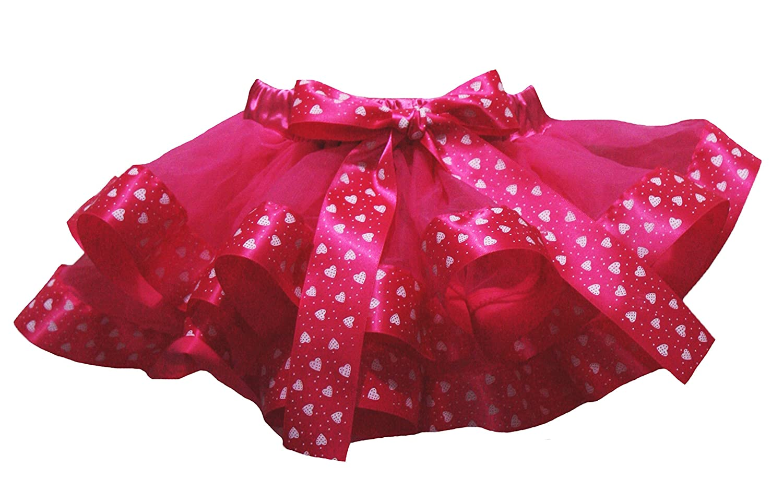Petitebella Named Happy 1st Mothers Day Shirt Hearts Hot Pink Petal Skirt Nb-2y