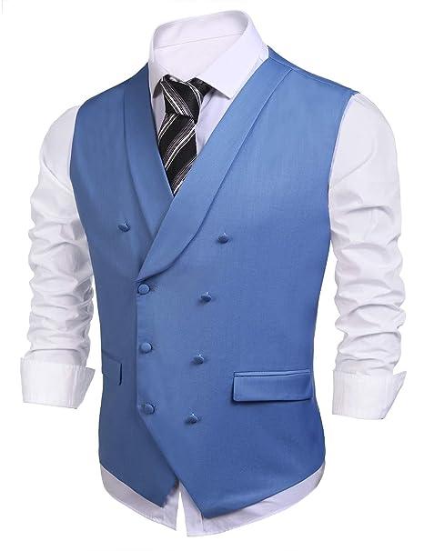 Amazon.com: Coofandy – Camisa con cuello en V sólido chaleco ...