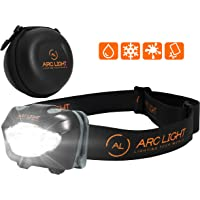 Arc Light Head Torch Headlamp for Running, Walking, Cycling and Camping at Night. Red and White LED's with Multiple…
