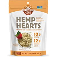 Manitoba Harvest Hemp Hearts Raw Shelled Hemp Seeds, Natural, 454g Bag - Packaging May Vary