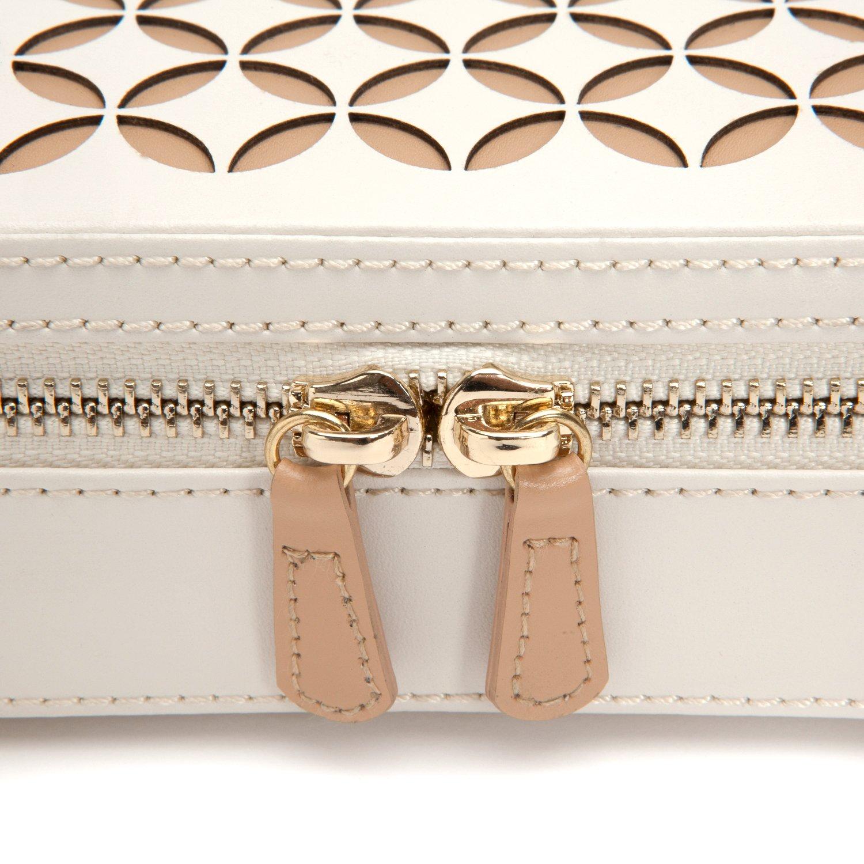 Amazoncom WOLF 301253 Chloe Zip Jewelry Case Cream Home Kitchen