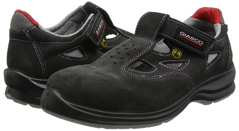 Giasco 91T95C35 Per/ù Sandale S1P Taille 35 Noir
