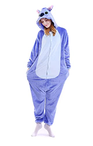Amazon.com: Grilong Halloween Stitch Onesie Costume Unisex-Adult Animals Stitch Pajamas: Clothing