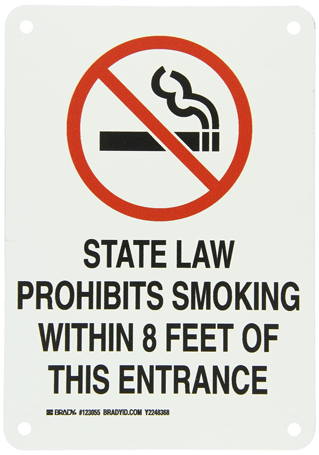 Amazon.com: Brady 123055 aluminio no smoking Sign – Indiana ...
